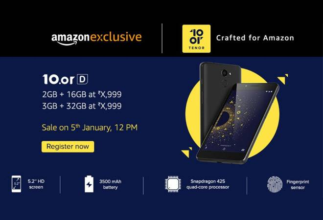 Amazon Launches Redmi 5A Rival 10.or D at Rs 4,999