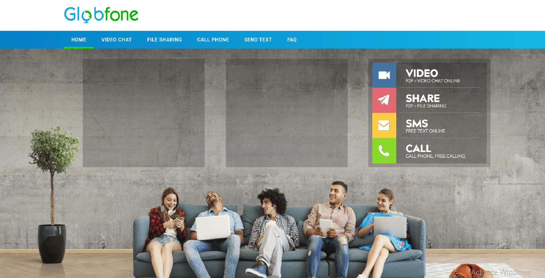 Free Calling Website-Globfone