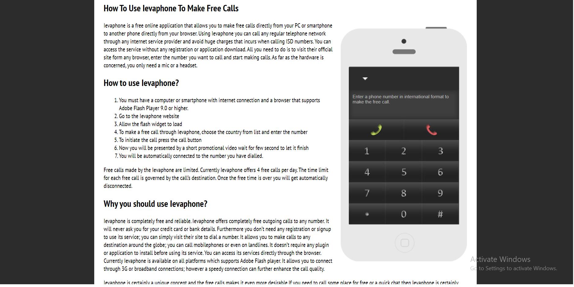 Free Calling Website-ievaphone